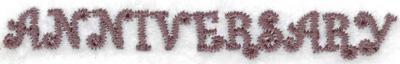 Embroidery Design: Anniversary 2.76w X 0.35h