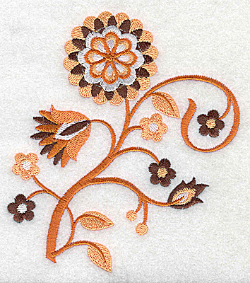 Embroidery Design: Flower A large 4.46w X 4.95h