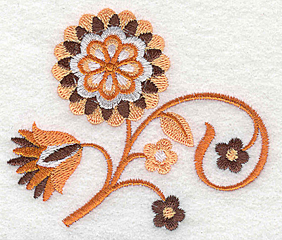 Embroidery Design: Flower A partial 3.57w X 3.02h