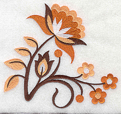Embroidery Design: Flower B large 4.98w X 4.55h