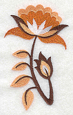 Embroidery Design: Flower B partial 2.35w X 3.86h
