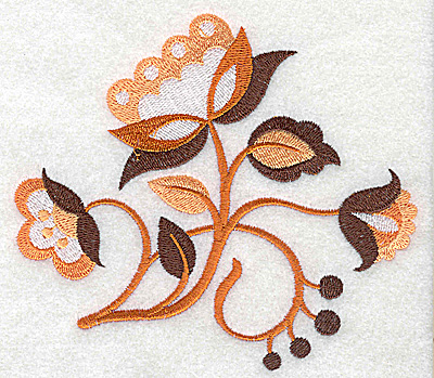 Embroidery Design: Flower C large 4.97w X 4.42h