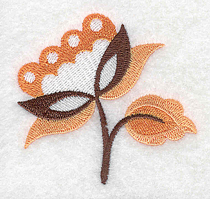 Embroidery Design: Flower C partial 2.68w X 2.52h