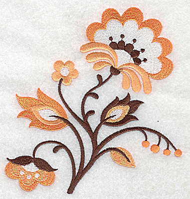 Embroidery Design: Flower D large 4.77w X 4.98h