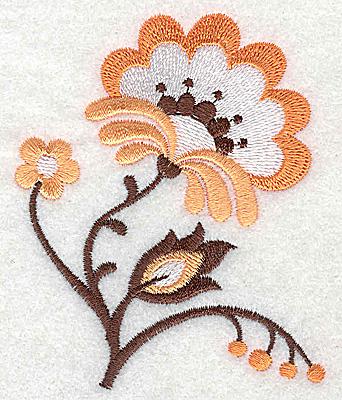 Embroidery Design: Flower D partial 2.91w X 3.50h