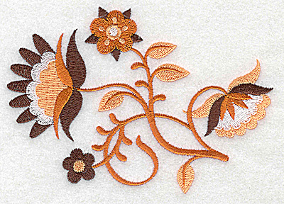 Embroidery Design: Flower E large 4.96w X 3.45h