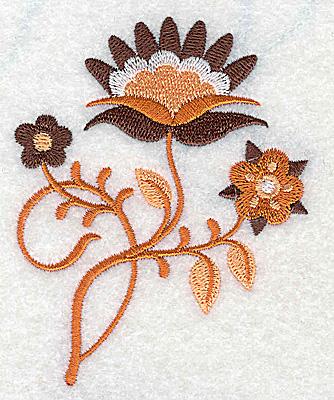 Embroidery Design: Flower E partial 2.81w X 3.50h