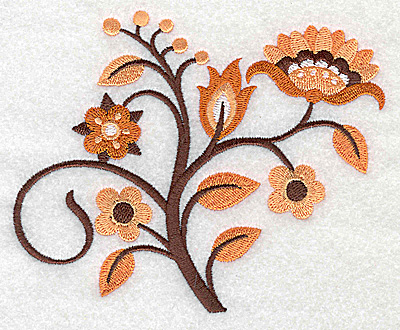 Embroidery Design: Flower F large 4.93w X 4.02h