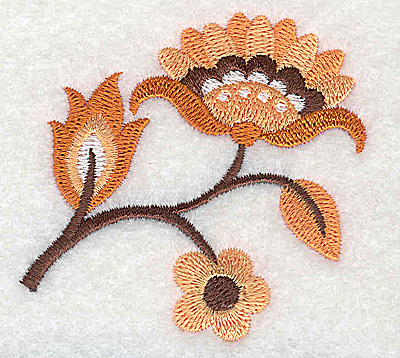 Embroidery Design: Flower F partial 2.51w X 2.42h