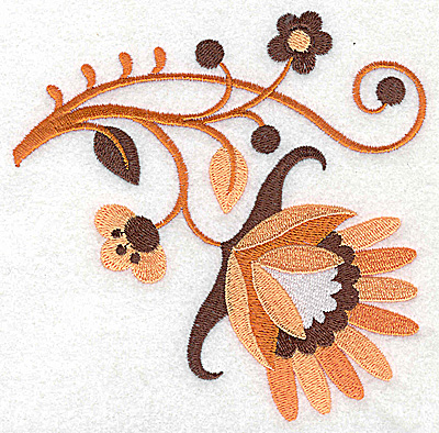 Embroidery Design: Flower G large 4.96w X 4.96h