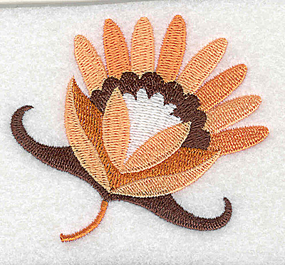 Embroidery Design: Flower G partial 3.01w X 2.64h