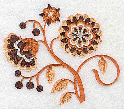 Embroidery Design: Flower H large 4.95w X 4.33h