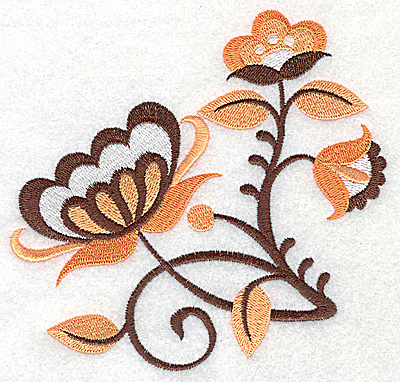 Embroidery Design: Flower I large 4.96w X 4.82h