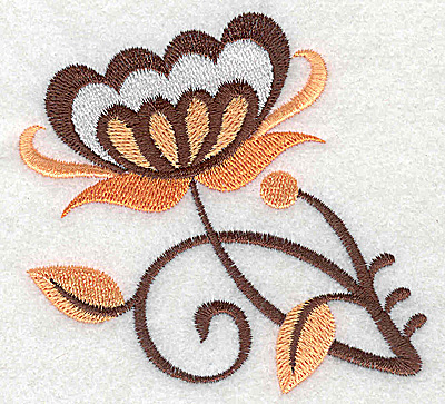 Embroidery Design: Flower I partial 3.51w X 3.29h