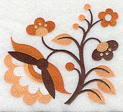 Embroidery Design: Flower J large 4.95w X 4.48h