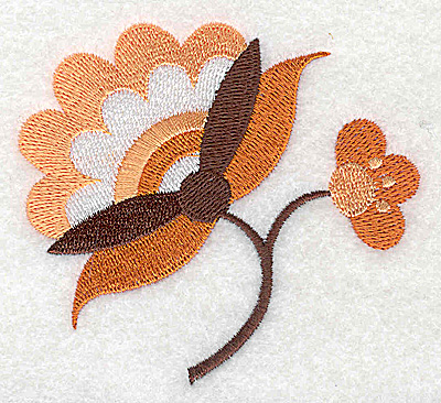 Embroidery Design: Flower J partial 3.32w X 3.01h