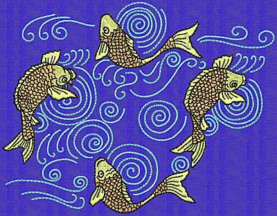Embroidery Design: Koi A 5.12w X 6.58h