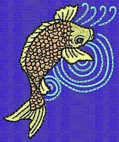 Embroidery Design: Koi C 2.78w X 2.29h