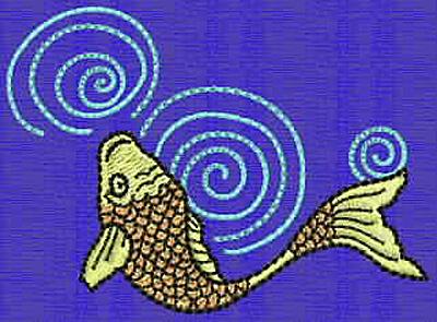 Embroidery Design: Koi D 3.11w X 3.11h
