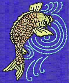 Embroidery Design: Koi E 2.78w X 2.28h