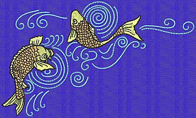 Embroidery Design: Koi F 3.93w X 6.58h