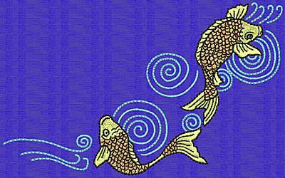 Embroidery Design: Koi G 3.88w X 6.29h