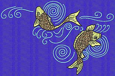 Embroidery Design: Koi H 4.03w X 6.10h