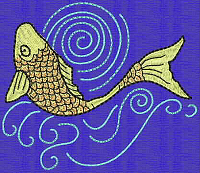 Embroidery Design: Koi K 3.52w X 4.08h