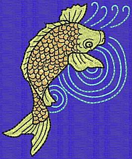 Embroidery Design: Koi L 4.17w X 3.44h