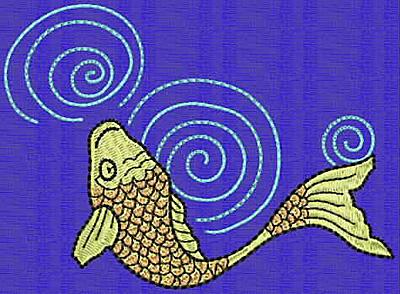 Embroidery Design: Koi M 3.40w X 4.66h