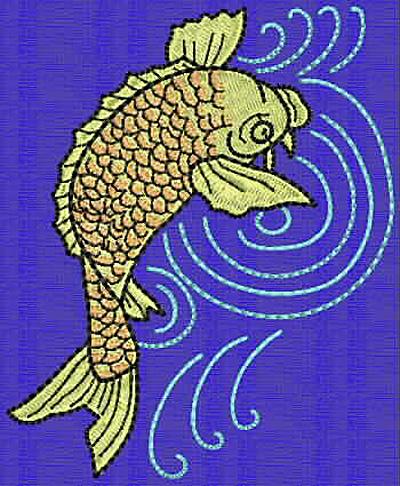 Embroidery Design: Koi N 4.17w X 3.40h