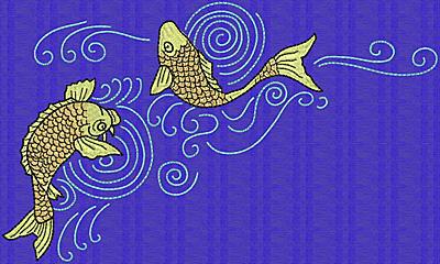 Embroidery Design: Koi O 5.88w X 10.19h