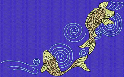 Embroidery Design: Koi P 5.81w X 9.42h