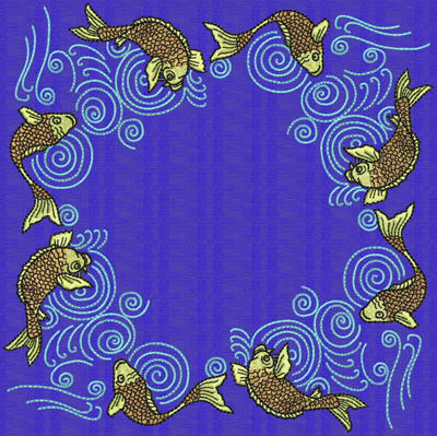 Embroidery Design: Koi T 7.69w X 7.69h