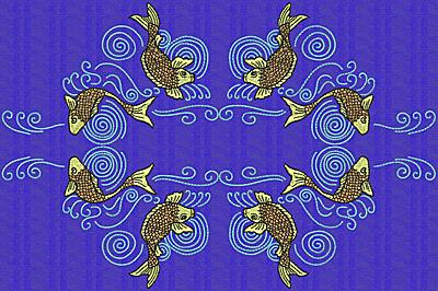 Embroidery Design: Koi U 7.70w X 11.61h