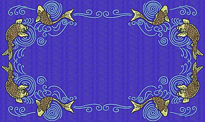 Embroidery Design: Koi W 7.69w X 12.90h