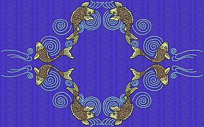 Embroidery Design: Koi Y 7.69w X 12.37h