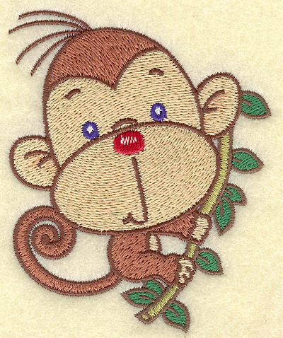 Embroidery Design: Monkey small 3.29w X 3.90h