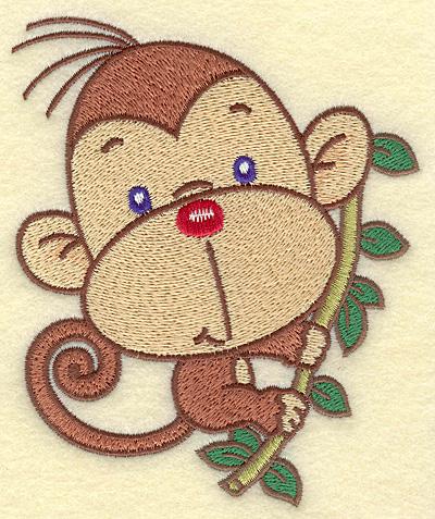 Embroidery Design: Monkey medium 4.21w X 4.99h