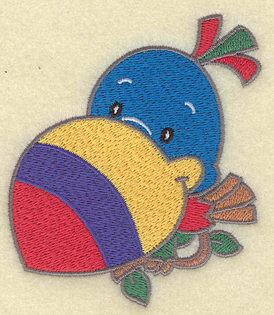 Embroidery Design: Toucan small 3.37w X 3.89h