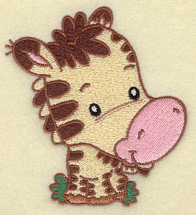 Embroidery Design: Zebra small 3.51w X 3.87h