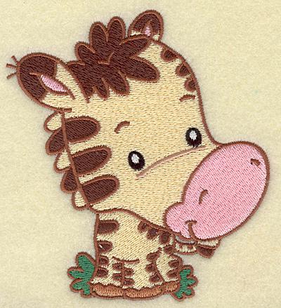 Embroidery Design: Zebra medium 4.53w X 4.99h