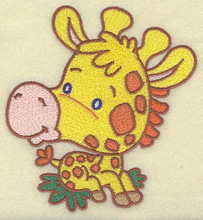 Embroidery Design: Giraffe medium 4.59W X 4.96H