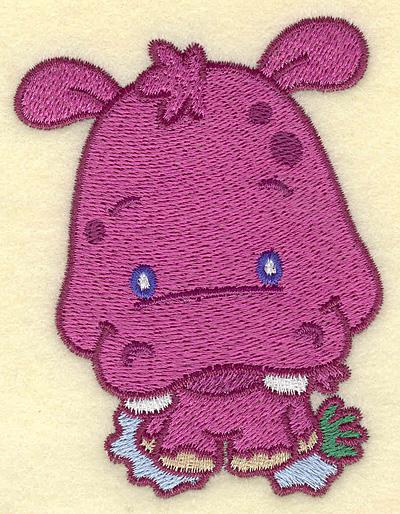 Embroidery Design: Hippo small 2.99w X 3.88h