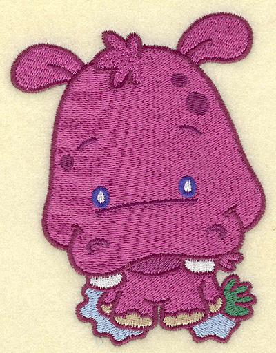 Embroidery Design: Hippo medium 3.85w X 5.00h