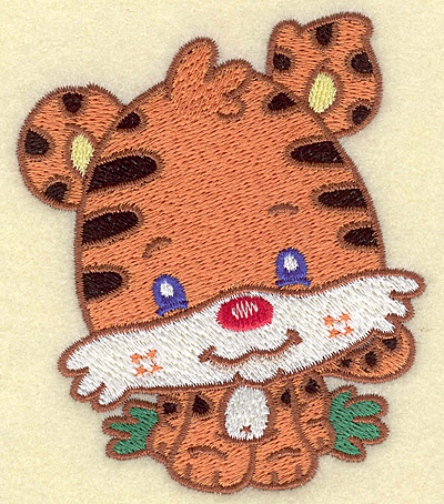 Embroidery Design: Tiger small 3.28w X 3.85h