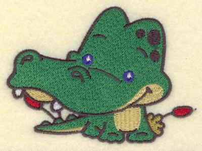 Embroidery Design: Crocodile small3.89w X 2.86h