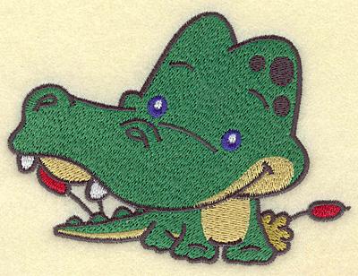 Embroidery Design: Crocodile medium 4.97w X 3.66h