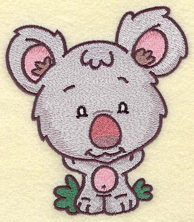 Embroidery Design: Koala bear medium 4.39w X 4.96h