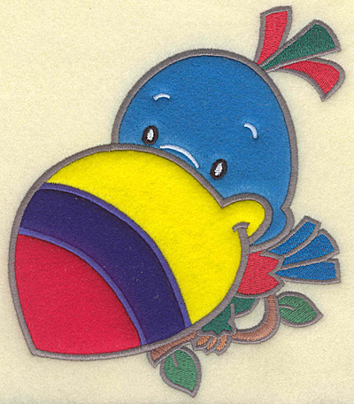 Embroidery Design: Toucan large 4 appliques 6.09w X 7.00h